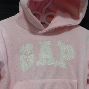 GAP, medium, 7-8, pink fleece hoodie, classic